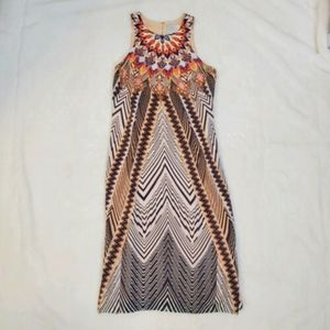 Anthropologie HD In Paris Dress 2P Silk Midi Boho